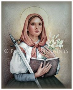 St. Dymphna  Catholic Patron Saint of mental disorders and the unofficial patron of neurological disorders