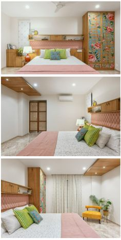 Room Door Design, Bedroom Closet Design, Bedroom Furniture Design, Home Room Design, Indian Room Decor, Pink Bedroom Decor, Small House Interior Design, Rooms, Decorations