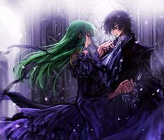 C.C. and Lelouch Code Geass