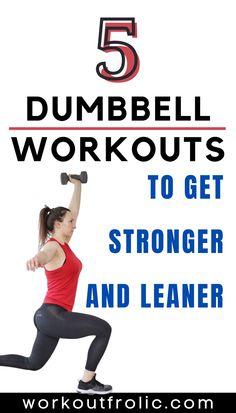 Dumbbell Workout At Home, Dumbbell Set, Butt Workout, At Home Workouts, Dumbbell Exercises, Muscle Gain Workout, Gain Muscle, Functional Workouts, Hiit Program