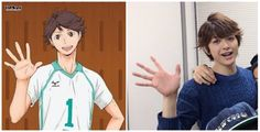 Holy shit they are the same, couldn't have chosen a better actor for him. O_O | Asuma Kousuke, Haikyuu stage play