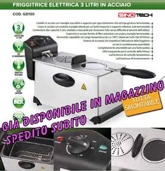 Friggitrice elettrica professionale 3 LT 2000W in acciaio CONTENITORE staccabile
