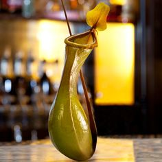 Grubstreet- it's the creation of bartender,Alex Kratena, and is made from jasmine-infused dry sherry, Japanese plum and shochu liqueur, mandarin bitters, orange flower water, and simple syrup. It's a pitcher plant that gets you tipsy.