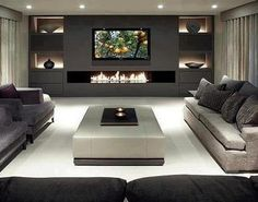 Love this #Living_Area  So clean and crisp