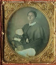 Native American Indian woman with postmortem baby.