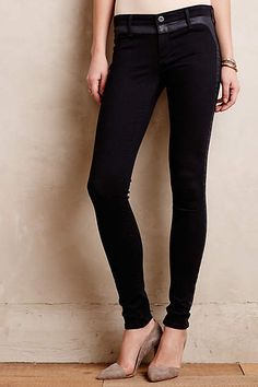 AG Jackie Coated Tux Stripe Jeans by AG - anthropologie.com