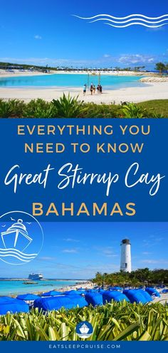 Everything You Need to Know about Great Stirrup Cay, Bahamas in If you have a cruise visiting Norwegian Cruise Line's newly updated private island in the Bahamas, then this guide is for you! Packing For A Cruise, Cruise Travel, Cruise Vacation, Shopping Travel, Dream Vacations, Bahamas Vacation, Bahamas Cruise, Italy Vacation, Cruise Excursions