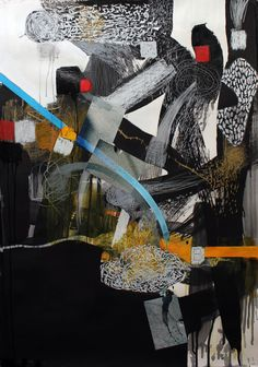 "Lance Austin Olsen, ""Intersection"" 33"" X 44"" acrylic, oil pastel, pigment and photographs on rag paper. on ArtStack #lance-austin-olsen #art"