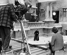 Filming Dracula's death scene in Dracula: Prince of Darkness (1966)