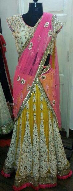 Lehenga, Sarees, Half Saree, Dress Me Up, Beautiful Bride, Party Wear, Brides, Blouses, Indian