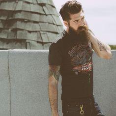 Lengthy beard.