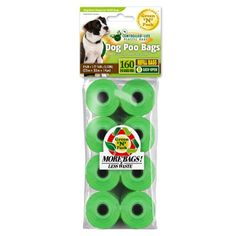 Eco Friendly Dog Waste Bags handle ties in a ready to go compact dispense box 160Count 8 Rolls -- See this great product.