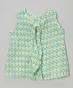 Kalliope Aqua Geometric Shift Top - Toddler & Girls | zulily
