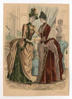 1880s Fashion, Edwardian Fashion, Vintage Fashion, Victorian Women, Victorian Era, Victorian Dresses, Historical Costume, Historical Clothing, Historical Dress