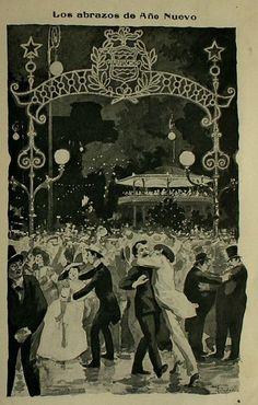 Año Nuevo en Santiago de Chile, año 1910