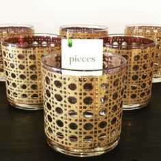 These vintage gold tumblers sure made one of our customer's parties complete!