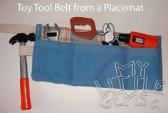 My Little Gems: Make a Toy Toolbelt from a Place mat