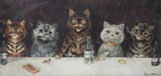 Louis Wain - The Bachelor Party