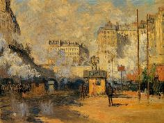 Saint Lazare Station, Sunlight Effect ~ Claude Monet