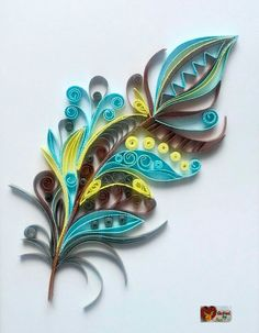 Feather Paper Quilling Patterns, Quilled Paper Art, Quilling Paper Craft, Paper Crafts, Quilling Butterfly, Origami And Quilling, Quiling Paper, Quilled Creations, Quilling Tutorial