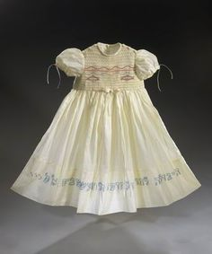 Dress for a girl's naming ceremony. USA, Photo © The Israel Museum, Jerusalem, by Mauro Magliani. Modern Website, Naming Ceremony, Museum Store, Jewish Art, Historical Clothing, Jerusalem, Beautiful Images, Contemporary Design