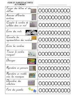 Voici la fiche de suivi et les étiquettes des casiers pour les ateliers de la période 3 : Former des lettres et des chiffres : briques Morphun Associer différentes écritures : placer la lettre en…