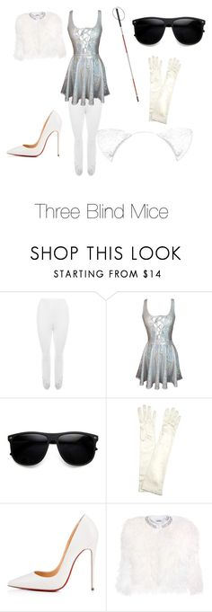 """""""Three Blind Mice-Shrek the Musical"""" by jarofhope ❤ liked on Polyvore featuring WearAll, ZeroUV, John Lewis, Christian Louboutin and Miu Miu"""