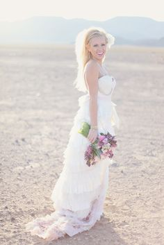 Fringe themed shoot in the Las Vegas desert. Florals by Layers of Lovely Floral Design