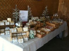 Belladonna apothecary, our set up at the craft show! Soaps, bath bombs and jewlery! Love the soaping life:)
