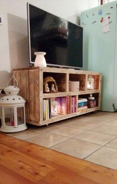 DIY Pallet #TV #Stand - Media #Console Table | 101 Pallets                                                                                                                                                                                 More #Pallettvstands
