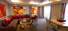 Habitación suite exterior de lujo con terraza Crucero Monarch de Pullmantur