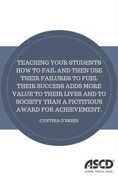 Teach your students how to fail.