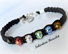 Excited to share this item from my shop: Crystal Friendship Salvation Bracelet/BFF/Knotted/Christian/Spiritual/Unisex Bracelets Bff, Silver Bracelets, Friendship Bracelets, Survival Bracelets, Diamond Bracelets, Ankle Bracelets, Hippie Jewelry, Macrame Jewelry, Macrame Bracelets