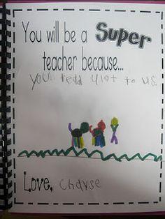 Pour ma stagière... Oh que oui!!! Nice Student Teacher gift
