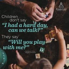 From Lawrence Cohen - Playful Parenting This hit me hard this morning. My kids always ask to play. Gentle Parenting, Parenting Advice, Kids And Parenting, Peaceful Parenting, Parenting Memes, Parenting Styles, New Energy, Raising Kids, Inspirational Quotes