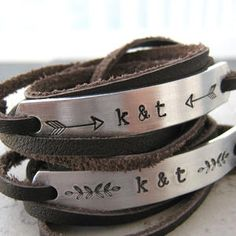 Similar Products: Couples Leather Wrap Bracelets, SET OF 2, custom