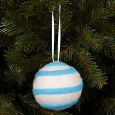 Buy John Lewis Stripe Wool Bauble Online at johnlewis.com