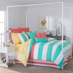Southern Tide® Cabana Stripe European Pillow Sham in Sunset Pink - BedBathandBeyond.com