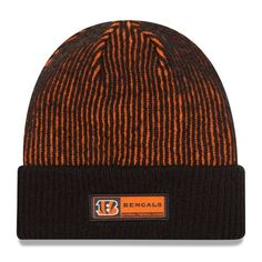 Cincinnati Bengals New Era Youth 2016 Sideline Official Tech Knit Hat - Black - $21.99
