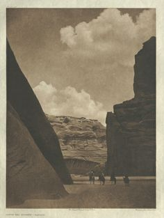 The North American Indian: being a series of Portfolios picturing and describing the Indians of the United States, the Dominion of Canada, and Alaska, Portfolio I, Plate 29: The Cañon del Muerto-Navaho. Edward S. Curtis. Collection CMA