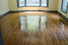 Wax On, Wax Off | Young House Love, what to use to get wood floors looking shiny again, recommend rejuvenate from home depot