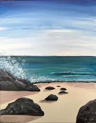 Image result for painting rocks in the ocean