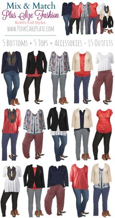 Autumn Plus Size Mix & Match from Kohl's! Get your shopping bag ready, head…...