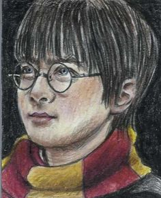 ACEO HARRY POTTER Young Daniel Radcliffe  Portrait Sketch Card by MIRACLE  #Miniature