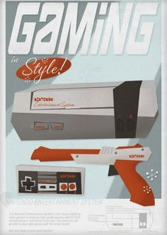 Gaming in style back in the day! Duck Hunt was the bomb!