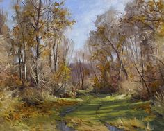 A Woodland Path in November by Andrew Orr Oil ~ 16 x 20