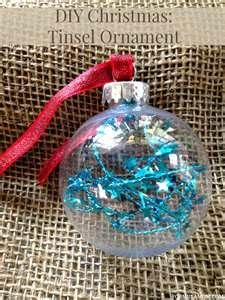 DIY Christmas Ornaments  clear bulb with filling