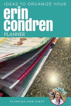 Ideas to organize your Erin Condren planner that will make any teacher happy!