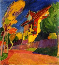 Alexej von Jawlensky, The Yellow House, 1909 I love the intense colors of the fauvist movement.