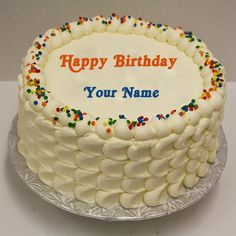 Write Anyone Name On Lovely Butter Cake For Boys Birthday And
